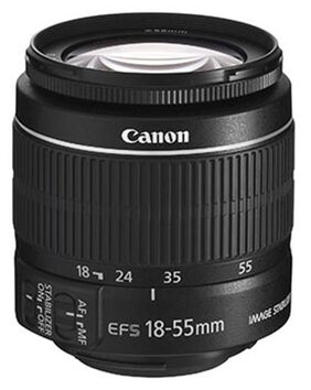 Canon EF-S 18-55 mm f/3.5-5.6 IS II Camera Lens (Black)