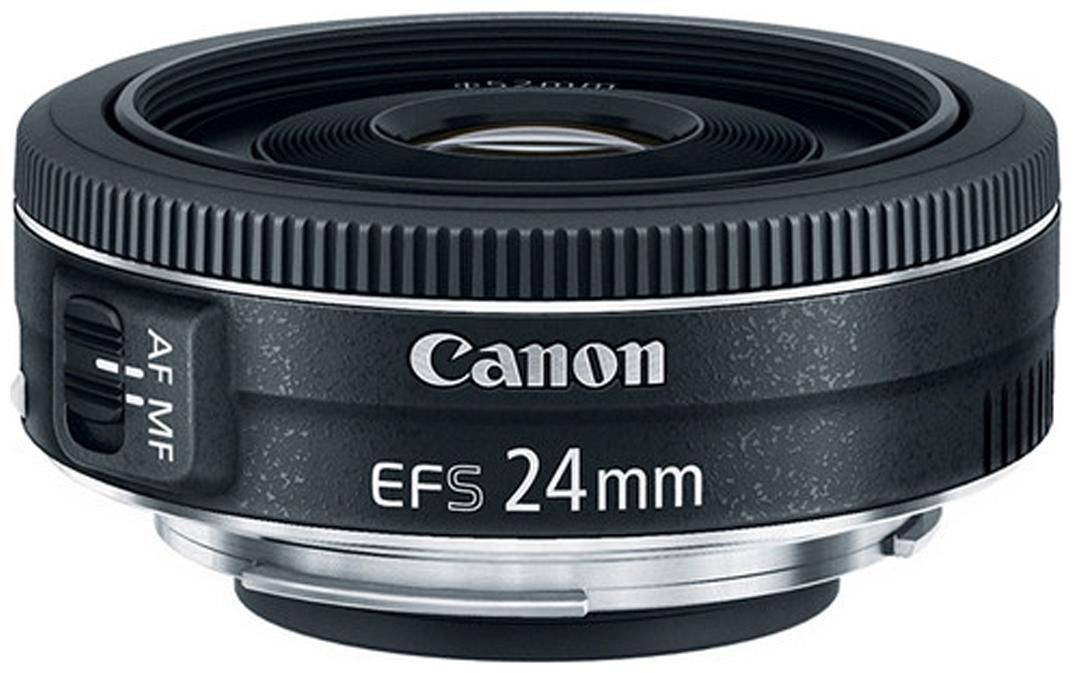 Canon EF S 24 mm f/2.8 STM Lens  Black  by Camera Stores