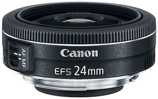 Canon EF S 24 mm f/2.8 STM Lens (Black)