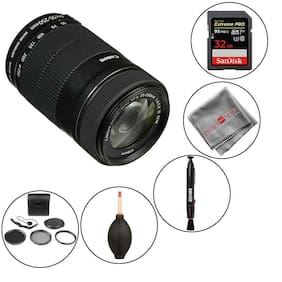 Canon EF-S 55-250mm f/4-5.6 IS STM Lens and memory kit