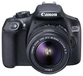Canon EOS 1300D Kit (EF S18-55 IS II) 18 MP DSLR Camera (Black)