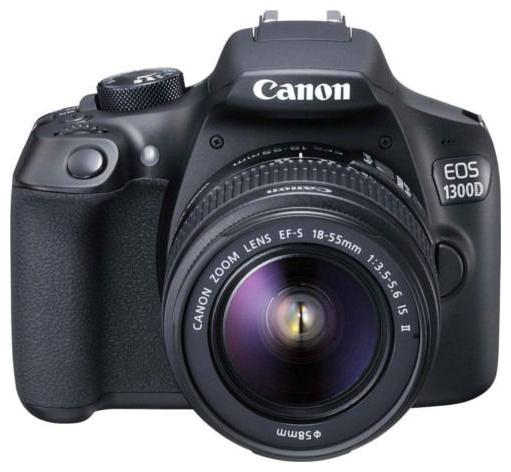 Canon EOS 1300D Kit  EF S18 55 IS II  18 MP DSLR Camera  Black