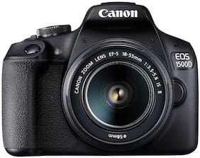 Canon EOS 1500D Kit (EF S18-55 IS II) 24.1 MP DSLR Camera (Black)