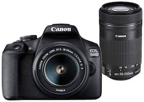 Canon EOS 1500D Kit (EF S18-55 IS II + 55-250 mm) 24.1 MP DSLR Camera (Black)