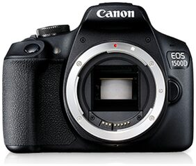 Canon EOS 1500D (Body) 24.1 MP DSLR Camera (Black)