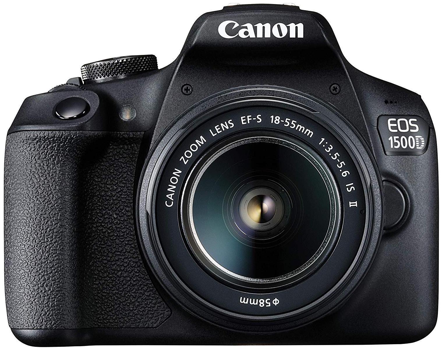 Canon EOS 1500D Kit  EF S18 55 IS II  24.1 MP DSLR Camera  Black