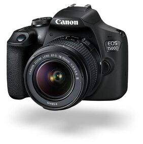 Canon EOS 1500D Kit (EF S18-55 IS II + 55-250 mm) 24.1 MP DSLR Camera (Black)