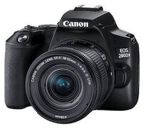 Canon EOS 200D II Kit (EF-S18-55 IS STM & EF-S55-250 IS STM) 24.1 MP DSLR Camera (Black)