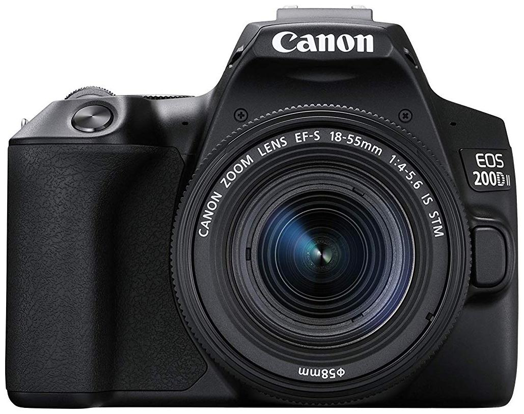Canon EOS 200D II Kit  EF S18 55 IS STM  24.1 MP DSLR Camera  Black  by Best Deal Camera Point