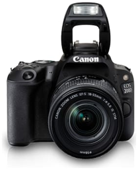 Canon EOS 200D Kit (EF-S18-55 IS STM) 24.2 MP DSLR Camera (Black)