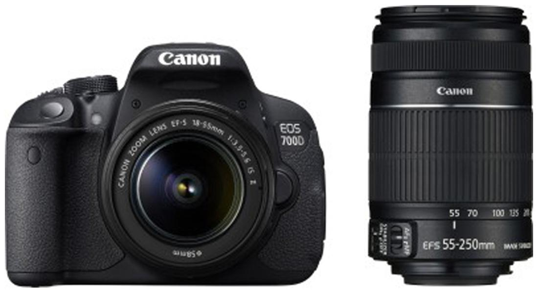 Canon EOS 700D DSLR Camera (Black Body with 18-55 mm Lens)