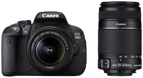Canon EOS 700D Kit (EF S18-55 IS II + 55-250 mm IS II Lens) 18 MP DSLR Camera (Black) + Carry Case + 16GB SD Card