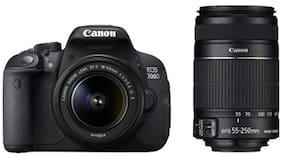 Canon EOS 700D Kit (EF S18-55 IS II + 55-250 mm IS II Lens) 18 MP DSLR Camera (Black) + Carry Case + 16GB SD Card