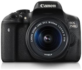 Canon EOS 750D Kit (EF-S18-55mm IS STM) 24.2 MP DSLR Camera (Black) + Carry Case + 16GB SD Card