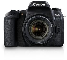 Canon EOS 77D Kit (EF-S18-55 IS STM) 24.2 MP DSLR Camera (Black) + 16GB Memory Card