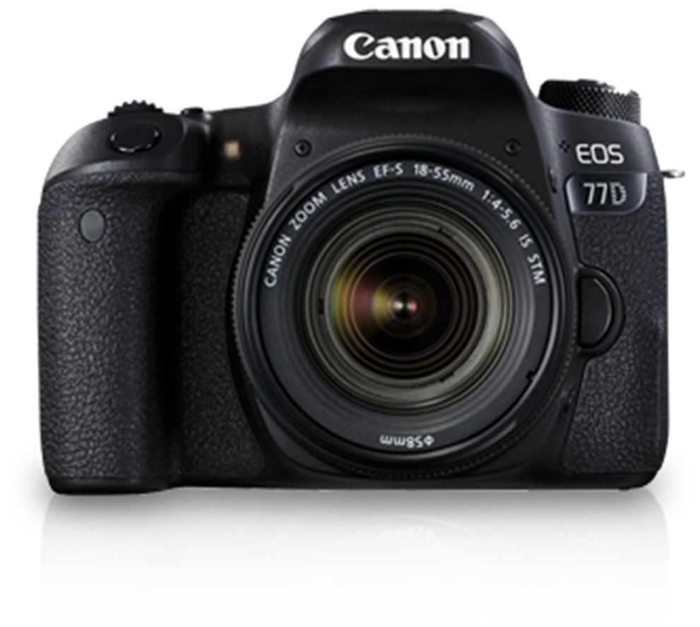 Canon EOS 77D Kit (EF-S18-55 IS STM) 24.2 MP DSLR Camera (Black)