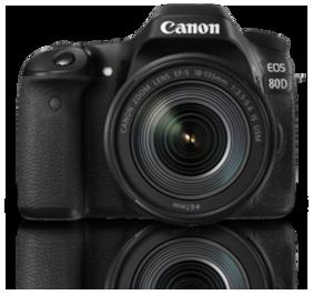 Canon EOS 80D Kit (EF-S18-135 IS USM) 24.2 MP DSLR Camera (Black)