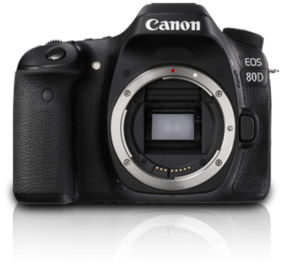 Canon EOS 80D (Only Body) 24.2 MP DSLR Camera (Black)