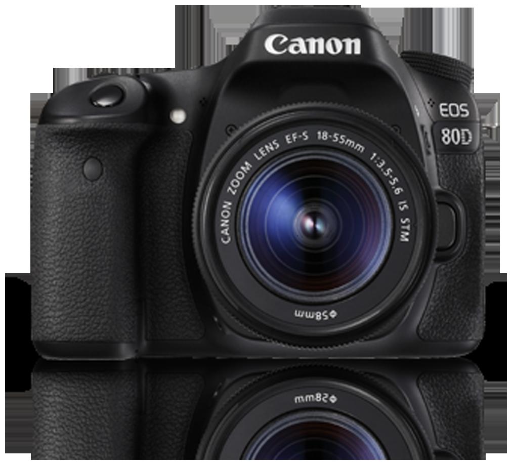 Canon EOS 80D Kit  EF S18 55 IS STM  24.2 MP DSLR Camera  Black