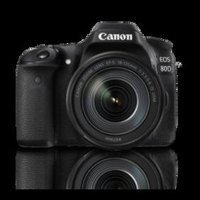 Canon EOS 80D (EF-S18-135 IS USM) 24.2 MP DSLR Camera (Black)