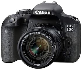 Canon EOS 800D Kit (EF S18-55 IS STM) 24.2 MP DSLR Camera (Black) + 16GB Memory Card