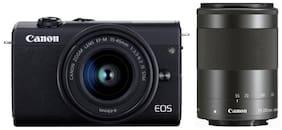 Canon EOS M200 Kit (EF-M15-45mm f/3.5-6.3 IS STM & EF-M55-200mm f/4.5-6.3) 24.1 MP Mirrorless Camera (Black)