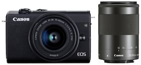 Canon EOS M200 Kit (EF-M15-45mm f/3.5-6.3 IS STM & EF-M55-200mm f/4.5-6.3) 24.1 MP Mirrorless Camera (Black)