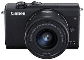 Canon EOS M200 Kit (EF-M15-45mm f/3.5-6.3 IS STM) 24.1 MP Mirrorless Camera (Black)