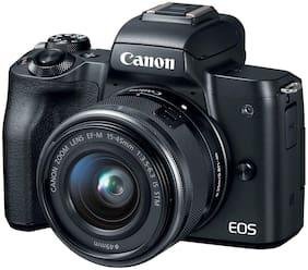 Canon EOS M50 Kit (EF-M15-45 IS STM) 24.1MP Mirrorless Camera (Black)
