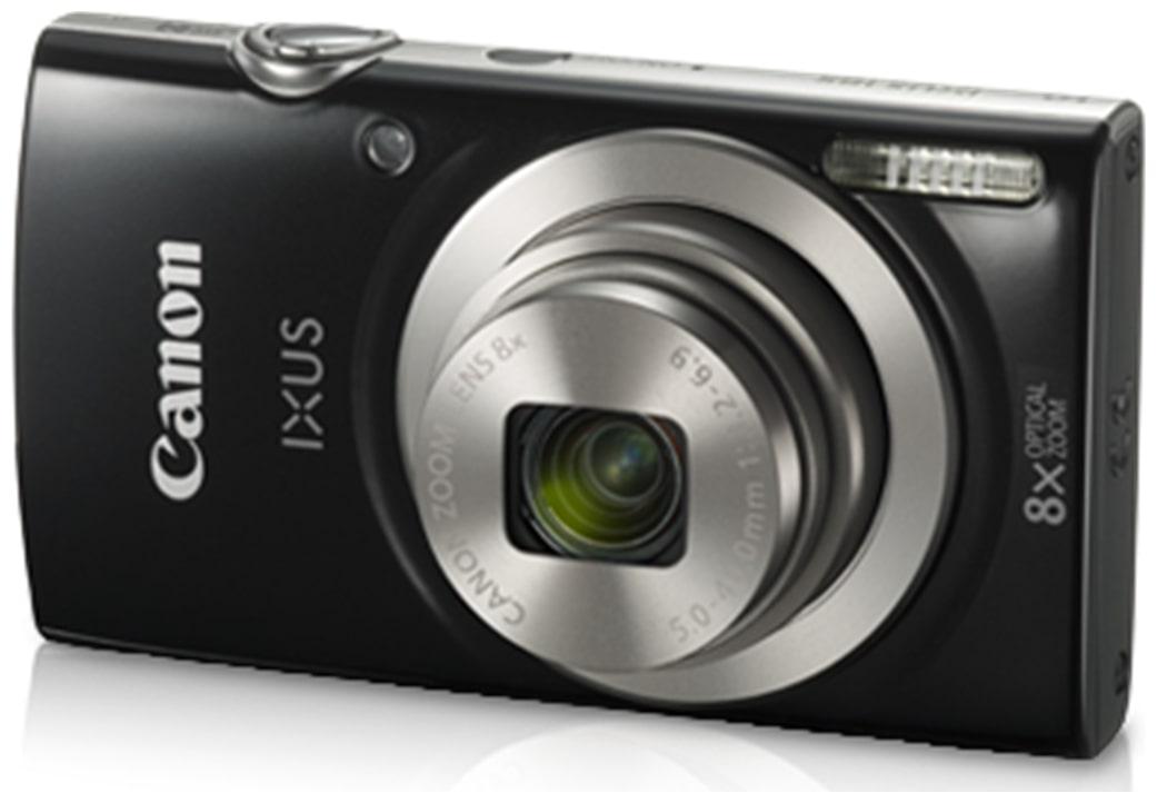 Canon IXUS 185 20 MP Point   Shoot Camera  Black  + 16  GB SDHC Card + Case