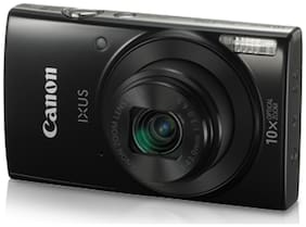 Canon IXUS 190 20 MP Point & Shoot Camera (Black)+16 GB card case