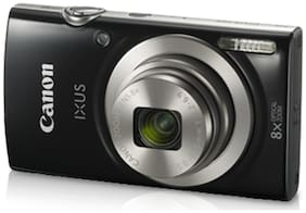 Canon IXUS 185 20 MP Point & Shoot Camera (Black) + 16 GB SDHC Card + Case