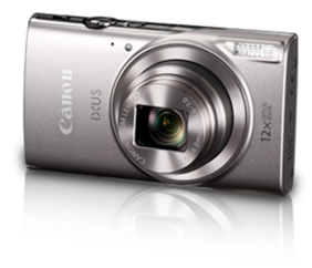 Canon IXUS 285 HS 20 MP Point & Shoot Camera (Silver) + 8 GB SDHC Card + Case + Interface Cable