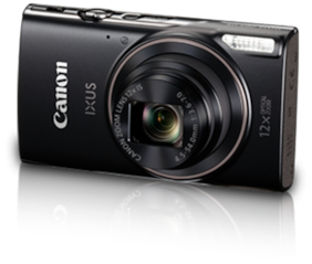 Canon IXUS 285 HS 20 MP Point & Shoot Camera (Black) + 8 GB SDHC Card + Case + Interface Cable