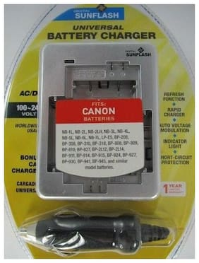 CANON Universal Charger for NB & BP Models by Digital Sunlflash - Silver