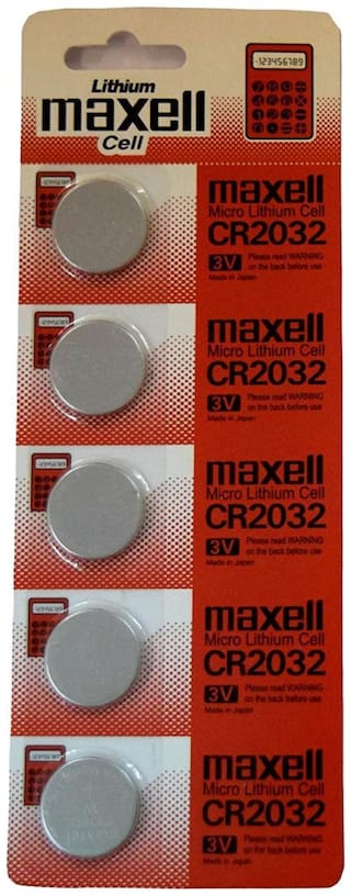 Capnicks Maxell Micro Lithium-ion 3V Micro Coin Cell Battery (Pack of 5 pcs)
