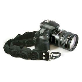 Capturing Couture Black Organza 1.5in DSLR Camera Strap #SLR15-BKRS