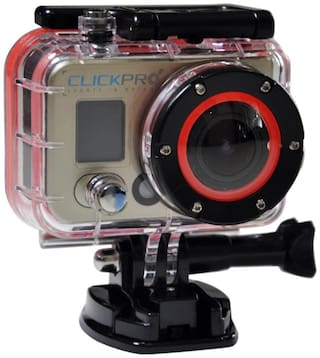 ClickPro Prime 12 MP Action Camera (Black & Gold)