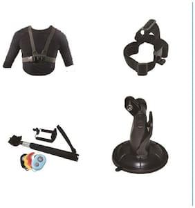 ClickPro Oculus Plus Shoulder Strap & Neck Strap with Helmet Strap, Suction Mount and Selfie Stick Combo