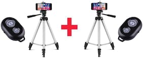 Combo Pack Of 2 Tik Tok Mobile Tripod With Bluetooth Remote For Tik Tok Lovers Compatible With All Smartphones