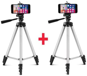 Combo Pack Of 2 Tik Tok Mobile Tripod / Adjustable / 360 Rotation / Portable Specially For Tik Tok Lovers Compatible With All Smartphones