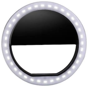 Crystal Digital Double Bright Soft Black Color Selfie Ring Light with 3 Modes and 36 LED for Smartphones