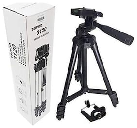 Crystal Digital Tripod 3120 Portable Adjustable Camera Stand for Video Cameras and Mobile with 3-Dimensional Head and Quick Release Plate
