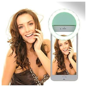 Crystal Digital Selfie Ring Light For Mobile | Tik tok Light Ring | Video Shooting Flash | All Device Supported With 3 Brightness Modes