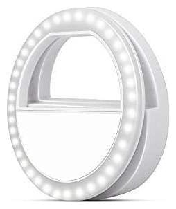 Crystal Digital Soft White Color Selfie Ring Light with 3 Modes and 36 LED for MobilePhone/Laptop/Camera Photography/Video Photo Shoot Flash