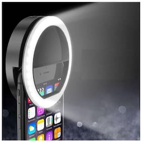 Crystal Digital Selfie Ring Rechargeable Flash Light With 36 LED's For Mobile Night Darkness Selfies For Android And iPhone Devices