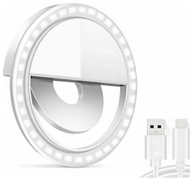 Crystal Digital Selfie Ring Light with 36 LED Bulbs, Flash Lamp Clip Ring Lights Fill-in Lighting Portable for Phone/Tablet/iPad/Laptop Camera