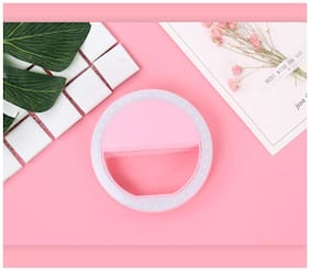 Crystal Digital Portable LED Selfie Ring Light for Smartphones, Tablets and iPhone (Pink)