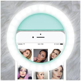 Crystal Digital Portable LED Selfie Ring Light for Smartphones, Tablets and iPhone (Mint Green)