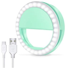 Crystal Digital LED Ring Selfie Light Enhancing Ring Light with 3 Level of Brightness for Photography Video Calling 36 LED